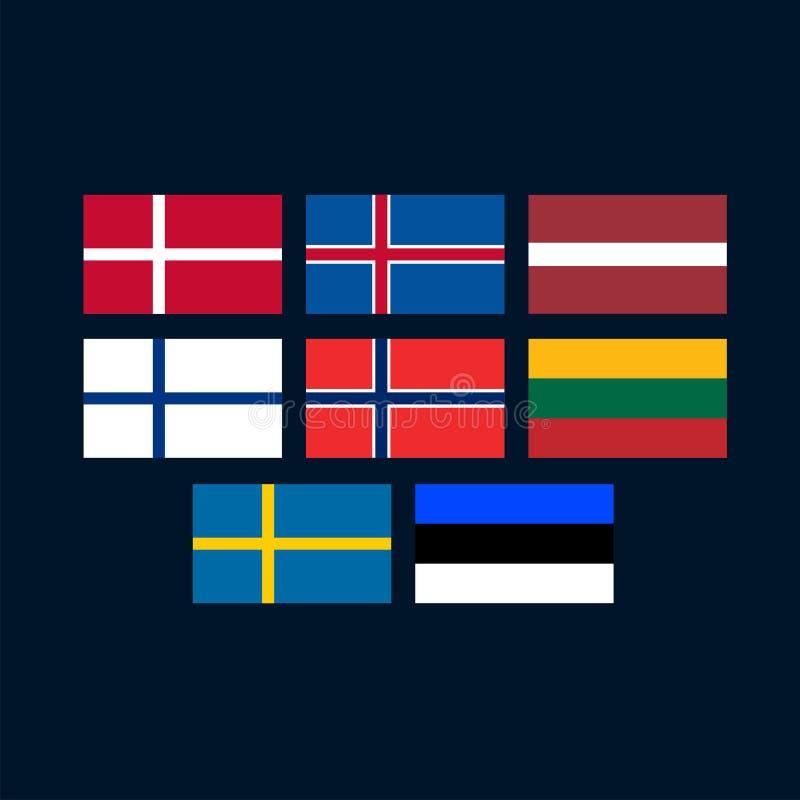 Northern Europe ilustração royalty free