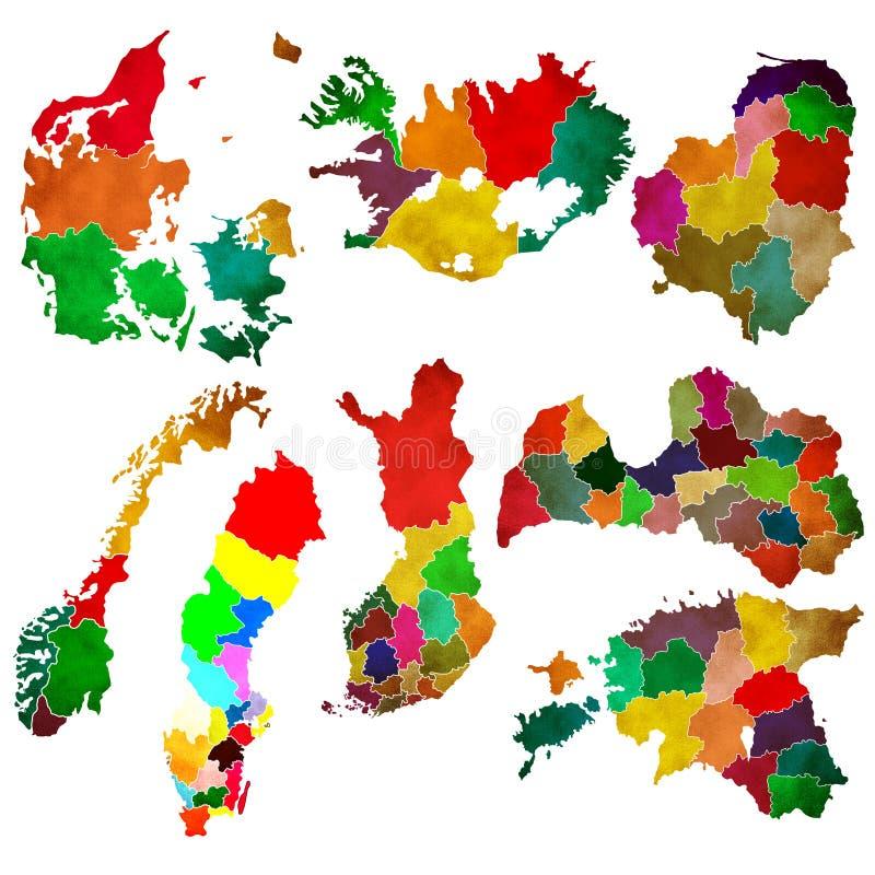 Download Northern Europe stock illustration. Image of iceland - 24553187