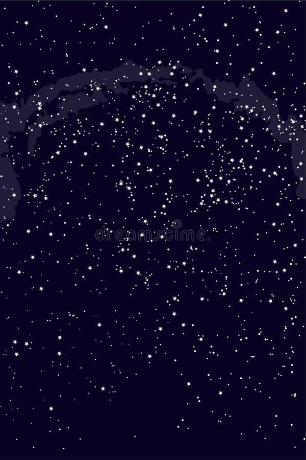 Northern hemisphere constellations, star map. Science astronomy vector illustration