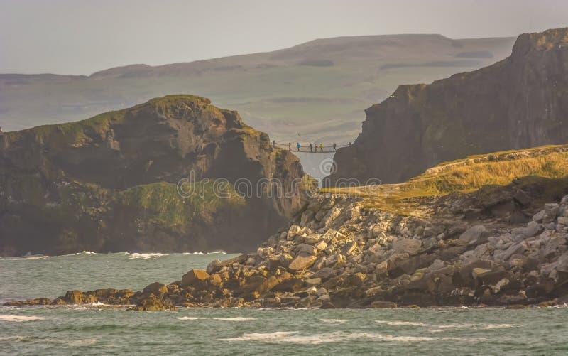 Northern Ireland Antrim Coast Ballintoy Harbour long exposure rocks sunset waves beautiful scenery royalty free stock photos