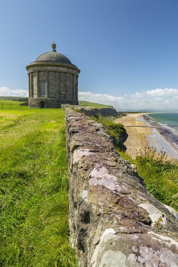 Mussenden Temple North Ireland. Northern Ireland - Aug 01, 2017: Mussenden Temple a popular tourist attraction on the Atlantic Ocean coast of Northern Ireland stock photography