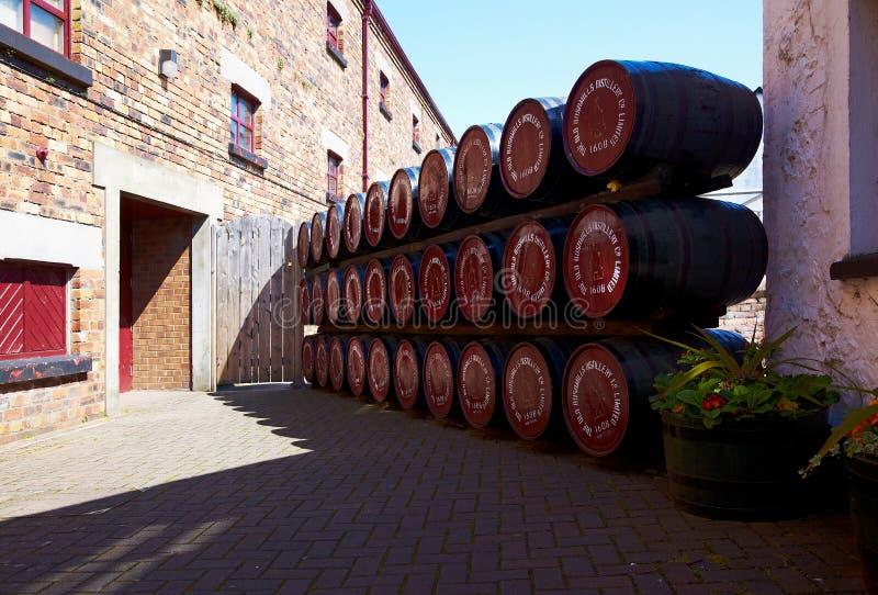 Old Bushmills Distillery. NORTHERN IRELAND - MAY 10, 2009: Old Bushmills grain alcohol distillery royalty free stock image