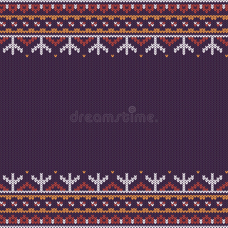 Northern knitted pattern vector illustration