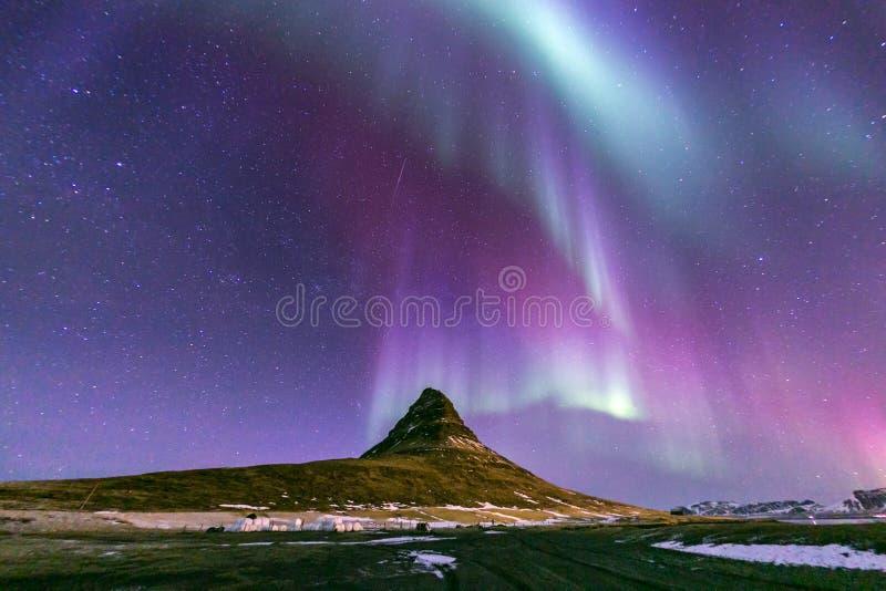 Northern Light Aurora Iceland stock image