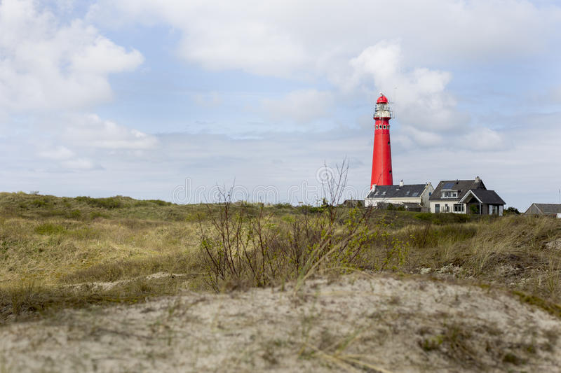 Northern Lighthouse Schiermonnikoog royalty free stock images