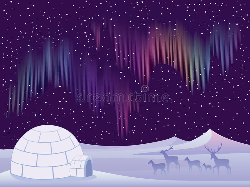 Download Northern Lights stock vector. Illustration of multicolour - 17154786
