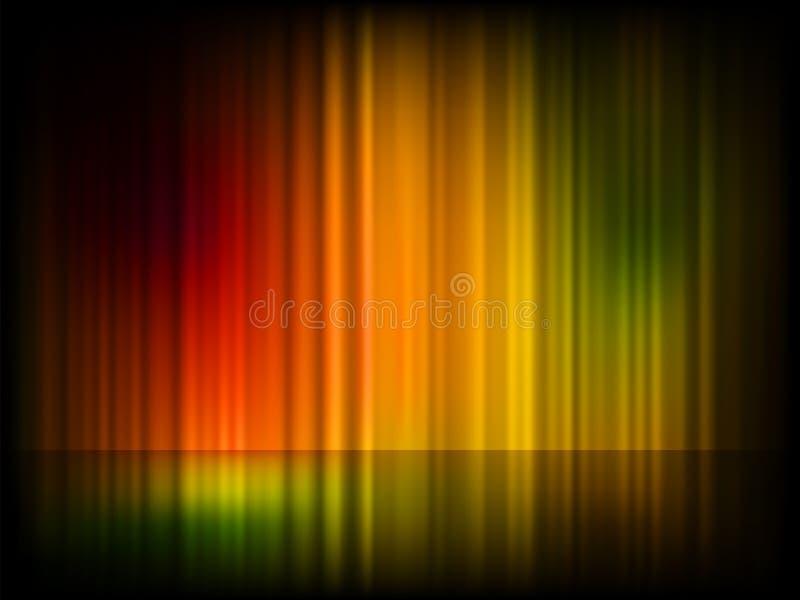 Northern Lights (Aurora Borealis). EPS 8 Stock Photography