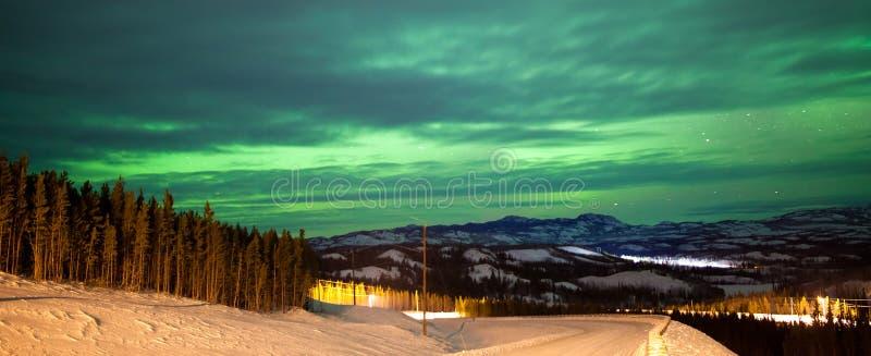 Download Northern Lights Aurora Borealis Over Rural Winter Stock Image - Image: 29152755
