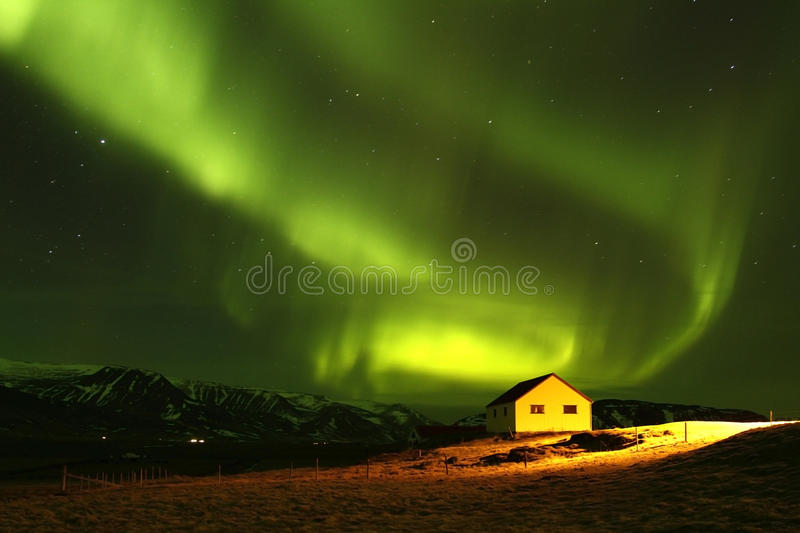 The Northern Lights 11. Aurora Borealis, a truly unforgettable experience stock photos