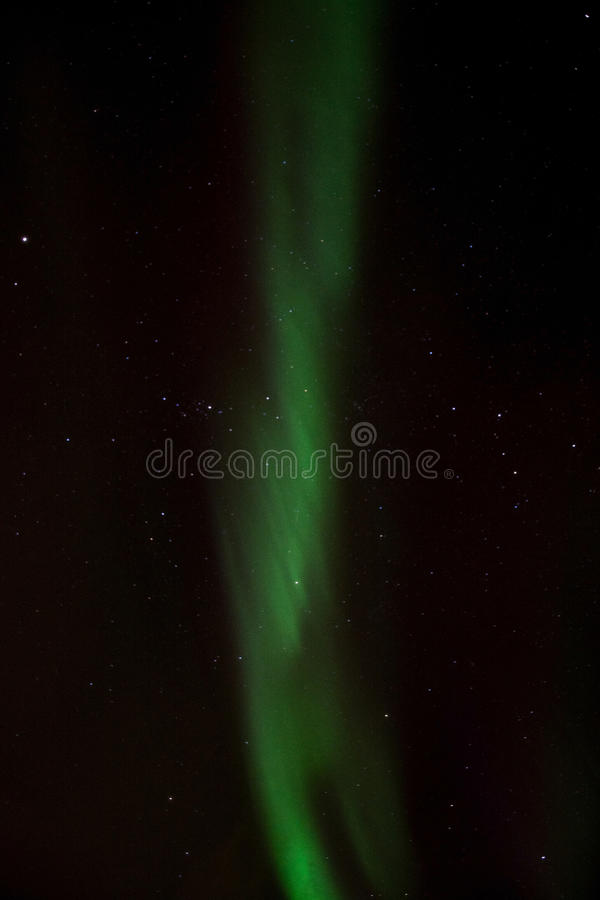 Northern Lights at Bremnes near Harstad, Norway. Aurora Borealis, photo taken at Bremnes near Harstad, Norway, in February stock photo