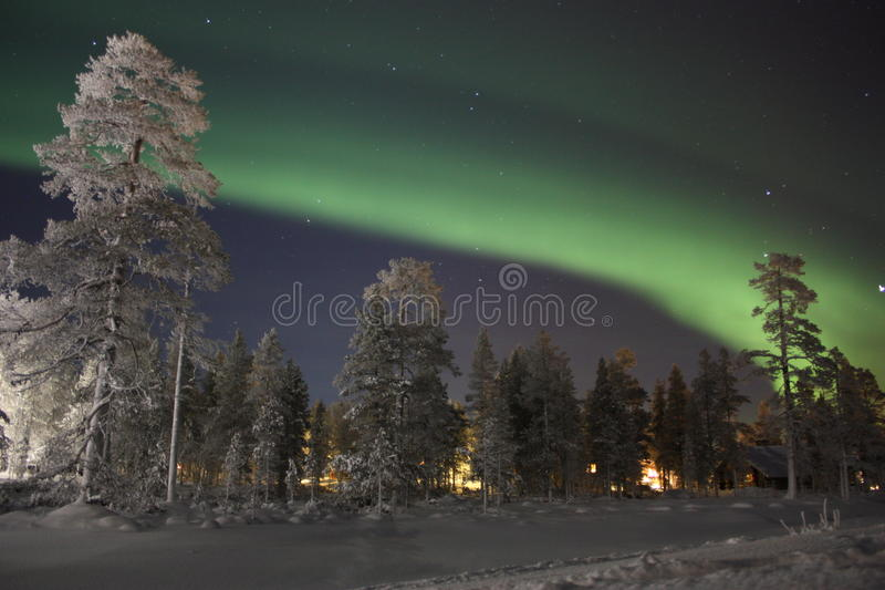 Northern Lights, Finnish Lapland stock images