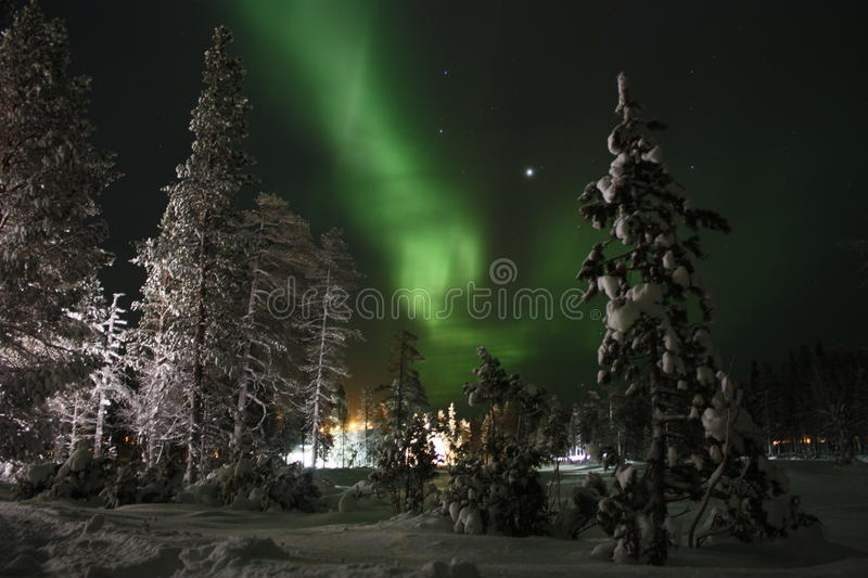 Northern Lights, Finnish Lapland royalty free stock image