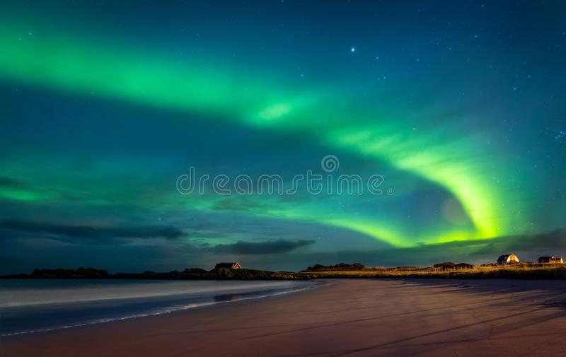 Northern lights, Norway stock images