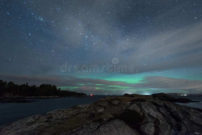 Northern lights in Norway royalty free stock photo