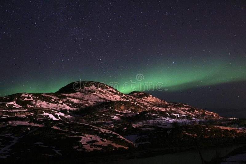 Northern Lights in Norway Sommaröy royalty free stock images