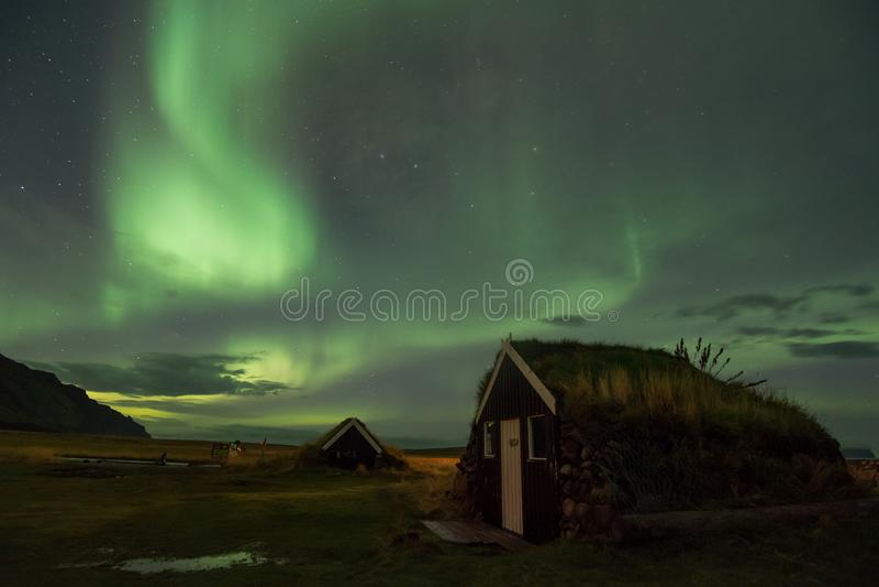 Download GRETTISLAUG Campsite On Iceland, Northern Lights Stock Photo - Image of amazing, island: 120488282