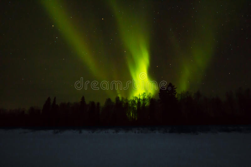 Northern lights over Lapland stock image