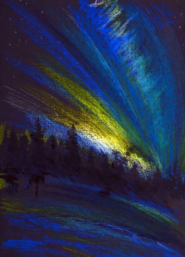 Northern Lights royalty free illustration