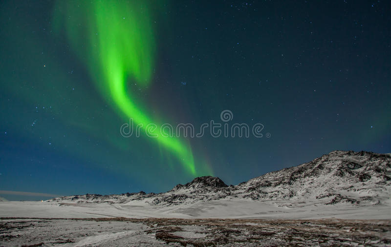 Northern Lights. Seen from Reykjanes peninsula, Iceland stock photos