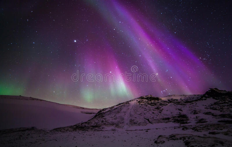 Northern Lights. During winter time in Iceland stock image