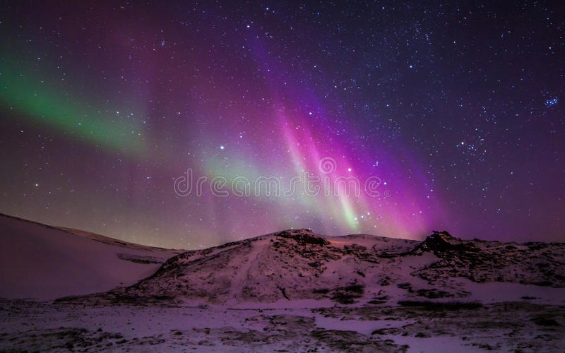 Northern Lights. During winter time in Iceland stock images