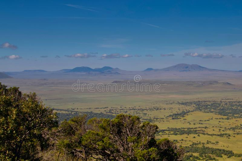 Northern New Mexico Plains. From the top of Capulin Volcano National Monument, the plains of northern New Mexico royalty free stock photo