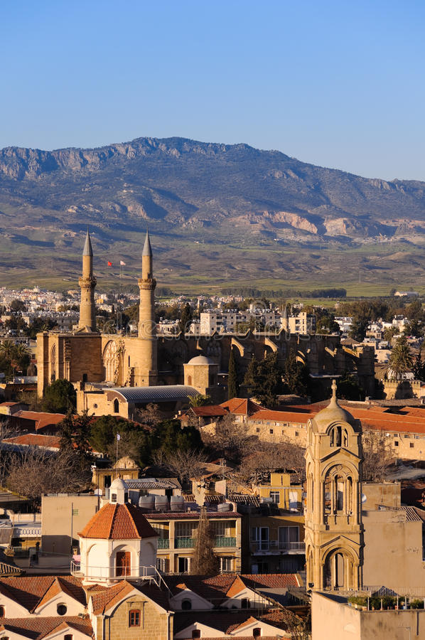 Northern Nicosia postcard royalty free stock image