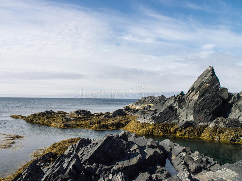Northern rocky beach stock photography