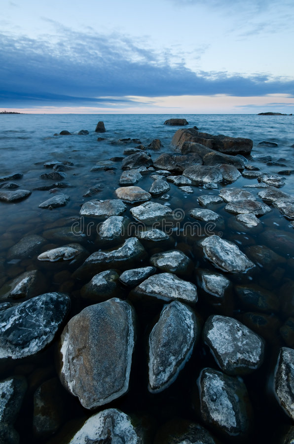 Northern shoreline royalty free stock photo