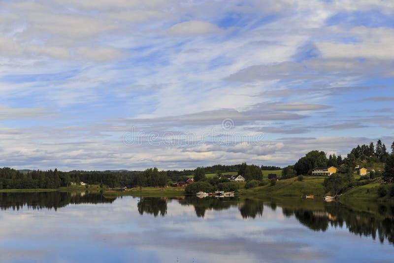 Northern Swedish landscape royalty free stock photo