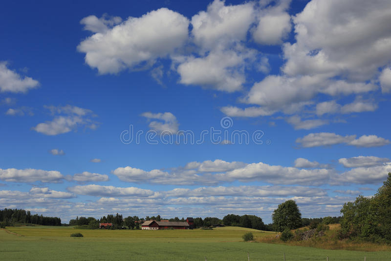 Northern Swedish landscape royalty free stock photography