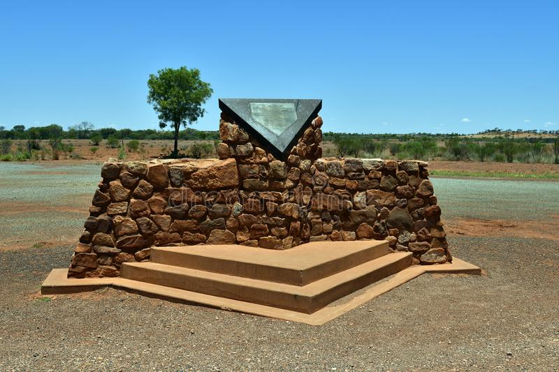 Australia_Northern Territory, Memorial. Northern Territory, Australia - November 15, 2017: Memorial for Cannonball race 1994 where four people died by accident stock image