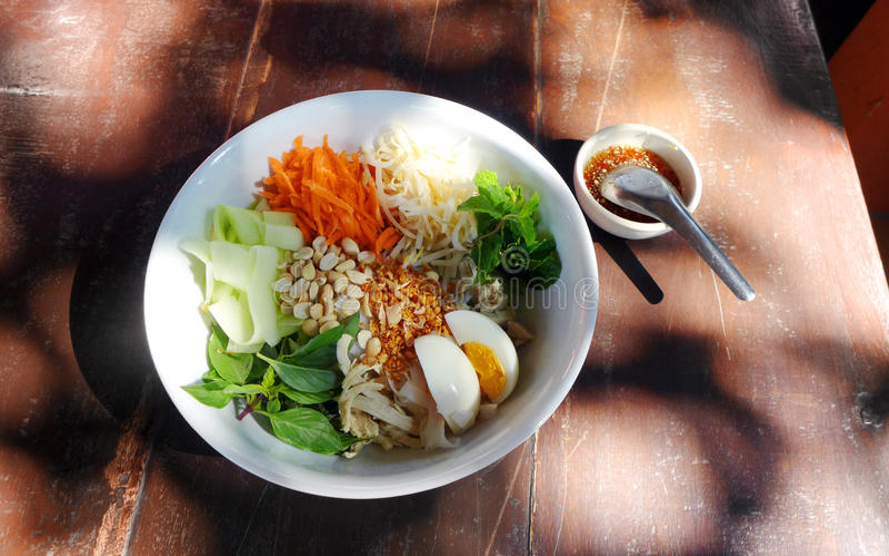 Thai food chicken salad royalty free stock photos