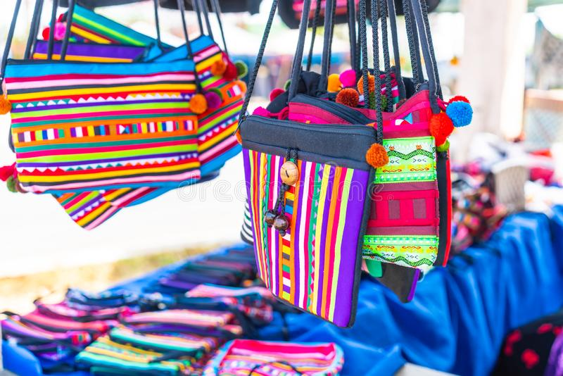 Northern Thailand traditional bag. Beautiful Northern Thailand traditional bag stock image