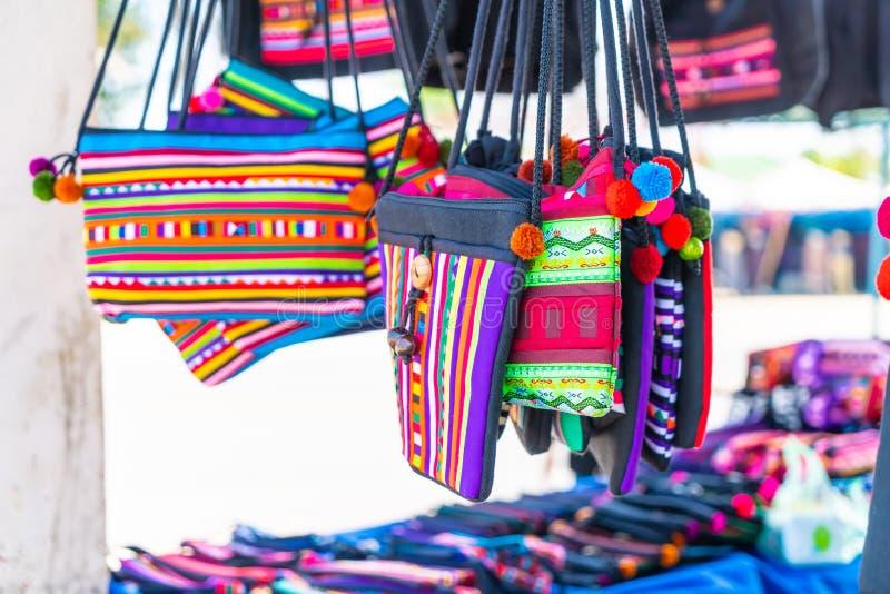 Northern Thailand traditional bag. Beautiful Northern Thailand traditional bag royalty free stock photo