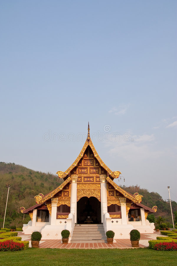 Northern traditional Thai style architecture stock photography