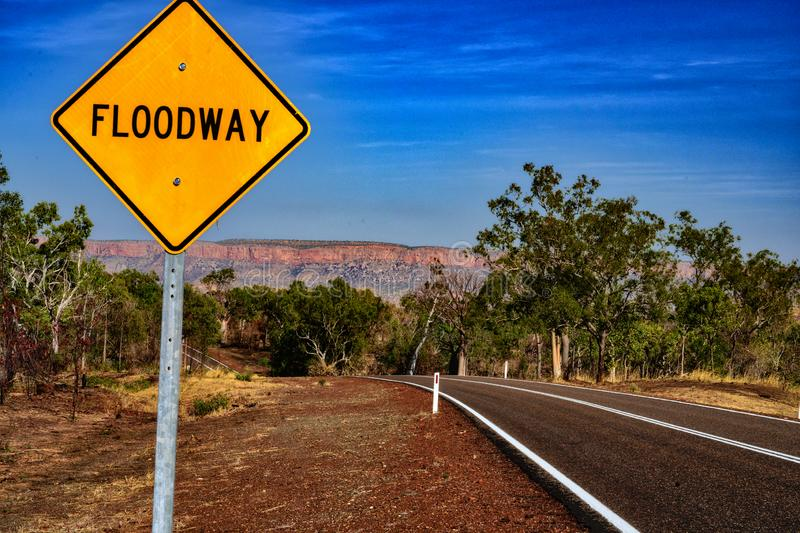 Victoria Highway Kimberleys. In northern Western Australia population is sparse, no more so than the remarkable Kimberleys, where roads are rarer royalty free stock photo