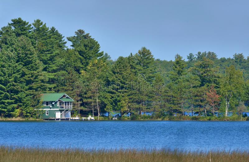 Northern Wisconsin Lake cabin royalty free stock images