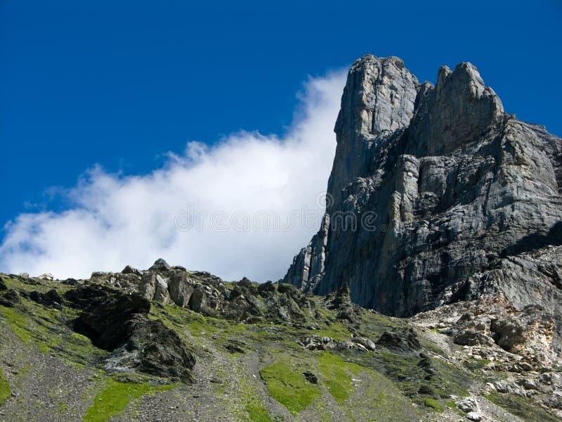 Northface of Eiger in Switzerland stock photography