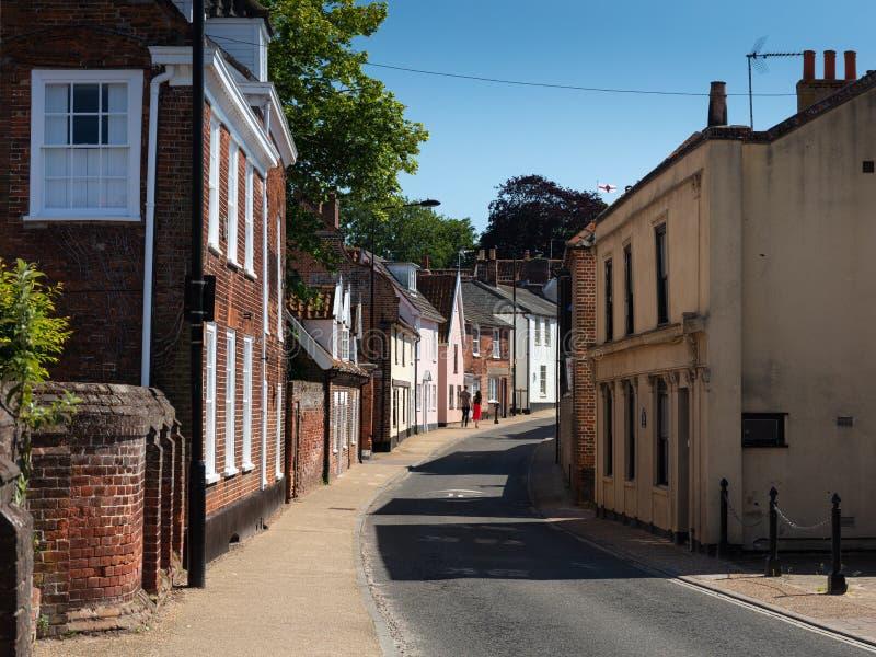 Northgate ulica, Beccles, UK, Czerwiec 2019 obraz royalty free