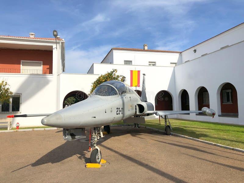 Northrop F-5 hiszpański samolot obraz royalty free