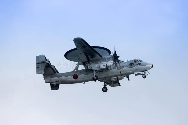 Northrop Grumman e-2C in Okinawa stock afbeelding