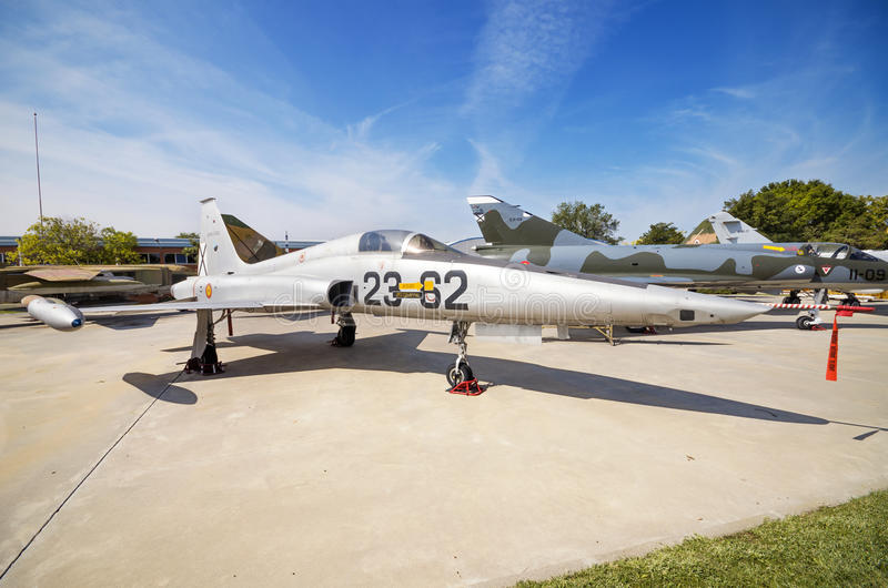 Northrop RF-5A frihetskämpe på September 5, 2015 i Madrid, Spanien fotografering för bildbyråer