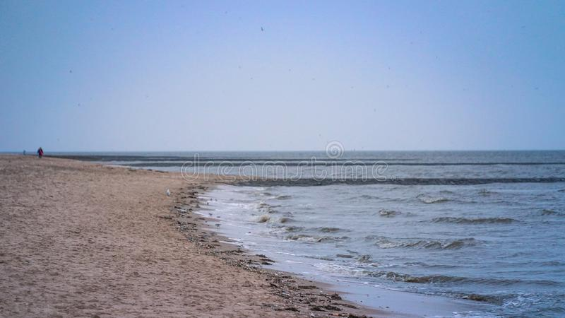 Northsea海岸 免版税库存图片