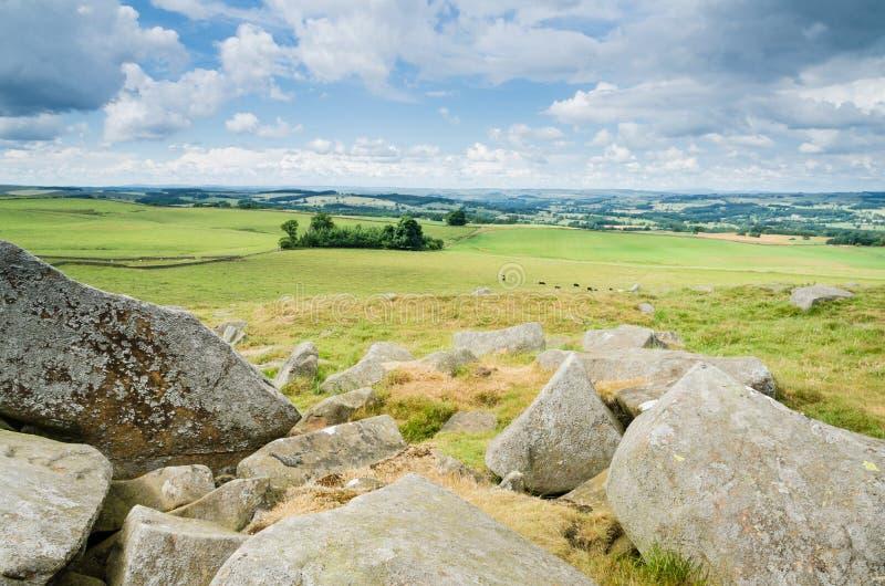 Northumberland al norte de la pared de Hadrians fotos de archivo