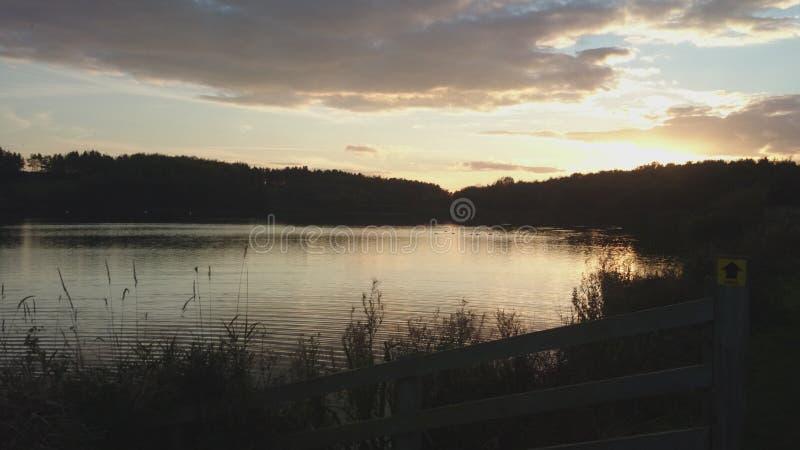 Northumberland - det Druridge fjärdlandet parkerar royaltyfria foton