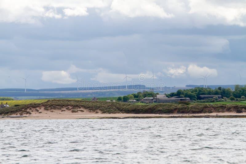 Windsurfers in Northumberland, England, UK royalty free stock photos