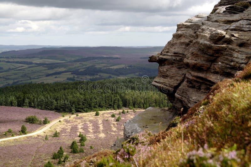Northumberland simonside wzgórza zdjęcie stock