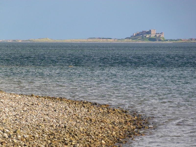 Northumberland strand arkivfoton