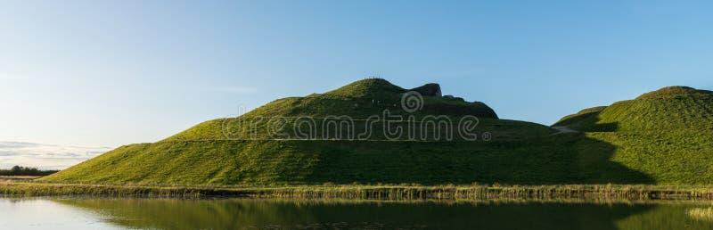 Northumberlandia panorâmico na cor fotografia de stock royalty free